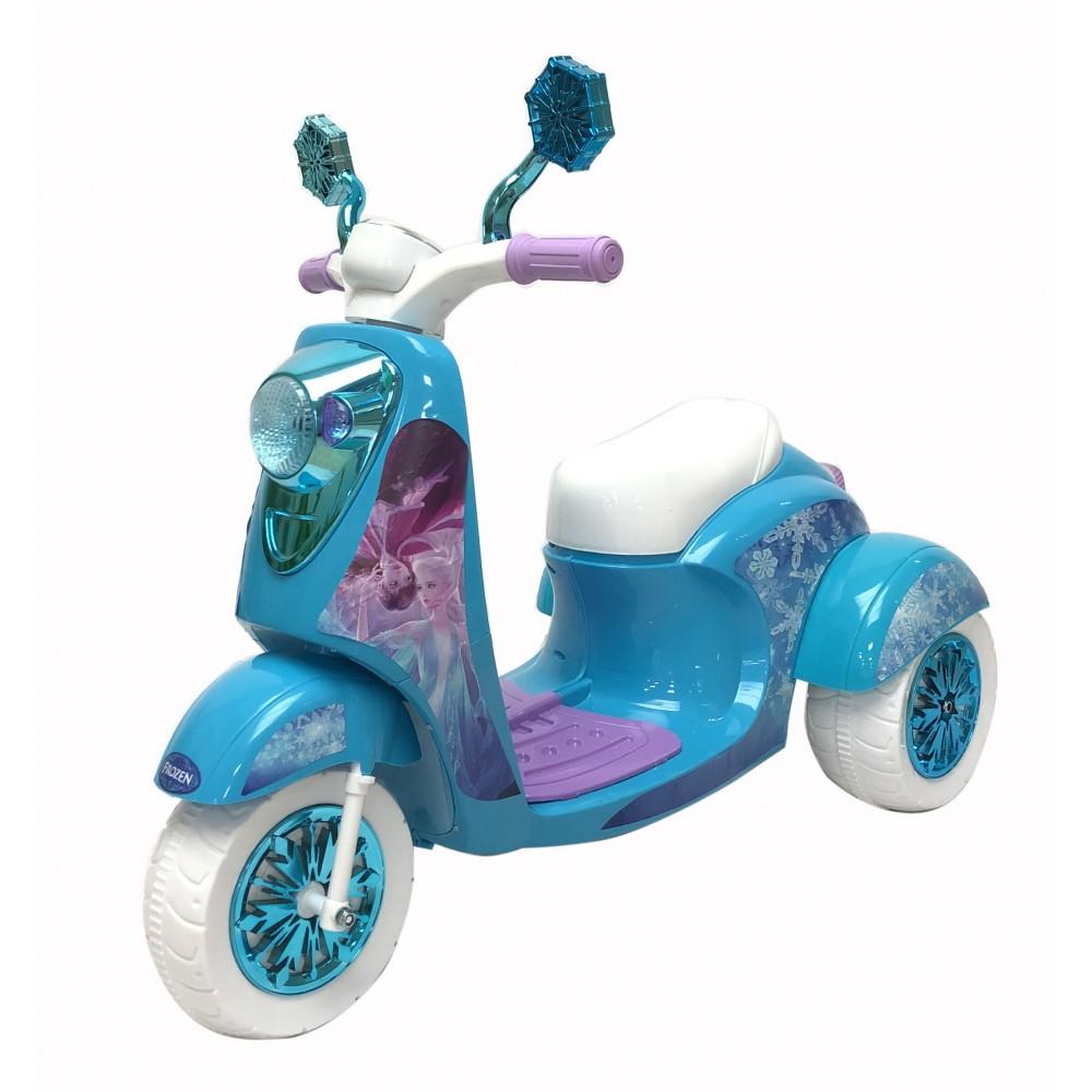 Ηλεκτροκίνητη Παιδική Μηχανή FROZEN 6V σε Γαλάζιο χρώμα 4208