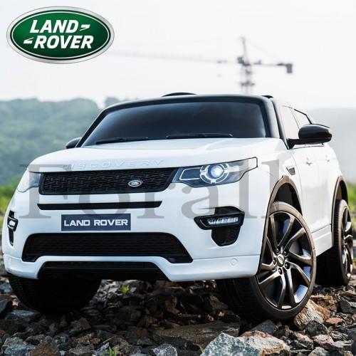 Ηλεκτροκίνητο Παιδικό Αυτοκίνητο Licensed Land Rover Discovery 12V Με Δερμάτινο Κάθισμα και Ελαστικά Τύπου Αυτοκινήτου Λευκό 5269017 Ηλεκτροκίνητα αυτοκίνητα
