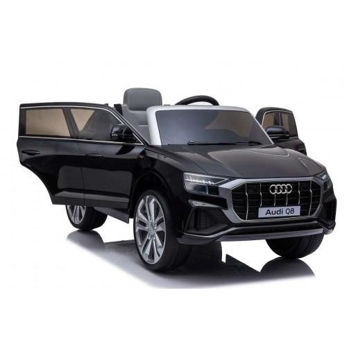 New Edition Ηλεκτροκίνητο Παιδικό Αυτοκίνητο AUDI Q8 License με δερμάτινο κάθισμα και ελαστικά 12V R/C Μαύρο BJQ82066 Ηλεκτροκίνητα αυτοκίνητα