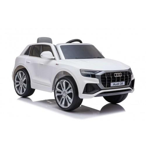 New Edition Ηλεκτροκίνητο Παιδικό Αυτοκίνητο AUDI Q8 License με δερμάτινο κάθισμα και ελαστικά 12V R/C Λευκό BJQ82066 Ηλεκτροκίνητα αυτοκίνητα