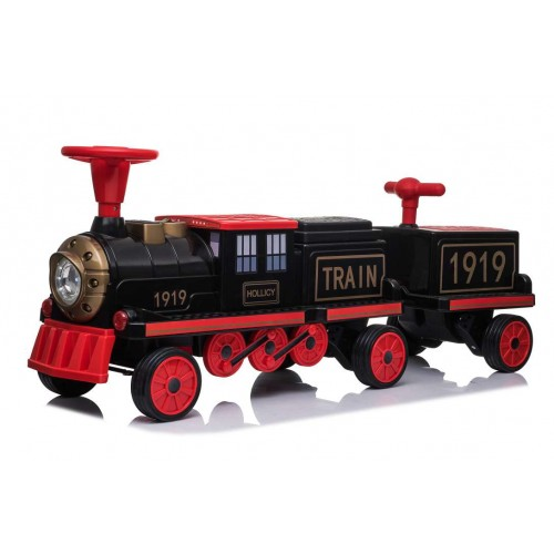 Ηλεκτροκίνητο Παιδικό Τραίνο με Δύο Βαγόνια και R/C σε Κόκκινο Χρώμα 151919B