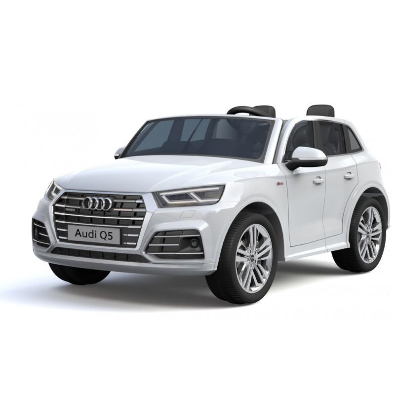 Ηλεκτροκίνητο Παιδικό Αυτοκίνητο AUDI Q5 διθέσιο License με δερμάτινο κάθισμα και ελαστικά 12V R/C Λευκό BJQ5 Two seats Ηλεκτροκίνητα αυτοκίνητα