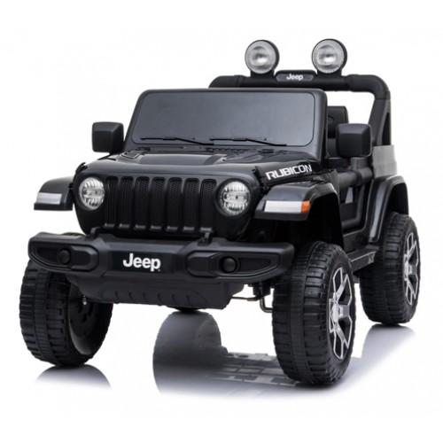 Ηλεκτροκίνητο Παιδικό Αυτοκίνητο Licensed Wrangler Rubicon Διθέσιο 12v Μαύρο 395371 Ηλεκτροκίνητα αυτοκίνητα