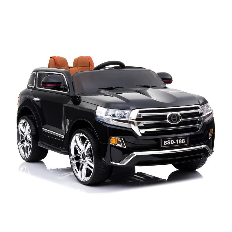 Ηλεκτροκίνητο Παιδικό Αυτοκίνητο τύπου Toyota Land  με 12V R/C Μαύρο BSD-188 με ελαστικά αυτοκινήτου και δερμάτινο κάθισμα Ηλεκτροκίνητα αυτοκίνητα
