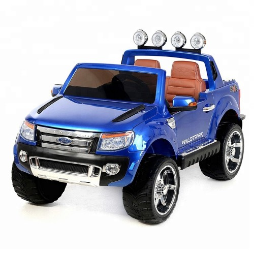 Ηλεκτροκίνητο Παιδικό Αυτοκίνητο Ford Ranger Original License 12V με δερμάτινο κάθισμα - κλειδί αυτοκινήτου και R/C 4x4 Μπλε dk-f150 Ηλεκτροκίνητα αυτοκίνητα