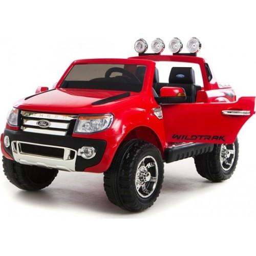 Ηλεκτροκίνητο Παιδικό Αυτοκίνητο Ford Ranger Original License 12V με δερμάτινο κάθισμα - κλειδί αυτοκινήτου και R/C 4x4 Κόκκινο dk-f150 Ηλεκτροκίνητα αυτοκίνητα