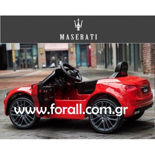 Ηλεκτροκίνητο Αυτοκίνητο MASERATI GHIBLI Licensed με MP3 και τηλεχειριστήριο 12V Κόκκινο 132145 Ηλεκτροκίνητα αυτοκίνητα