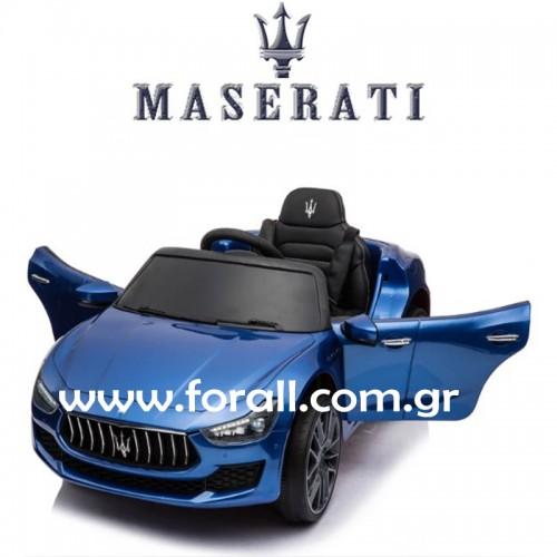Ηλεκτροκίνητο Αυτοκίνητο MASERATI GHIBLI Licensed με MP3 και τηλεχειριστήριο 12V Μπλε 132145 Ηλεκτροκίνητα αυτοκίνητα