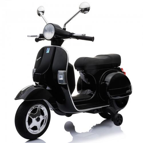 Ηλεκτροκίνητη Παιδική Vespa Licensed Piaggio Vintage 12V Μαύρη PX150 ΠΑΙΧΝΙΔΙΑ