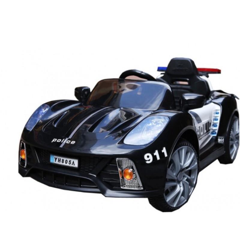 Ηλεκτροκίνητο Παιδικό Αυτοκίνητο Αστυνομίας-Περιπολικό Μαύρο με μεγάφωνο ΥΗ805Α Ηλεκτροκίνητα αυτοκίνητα