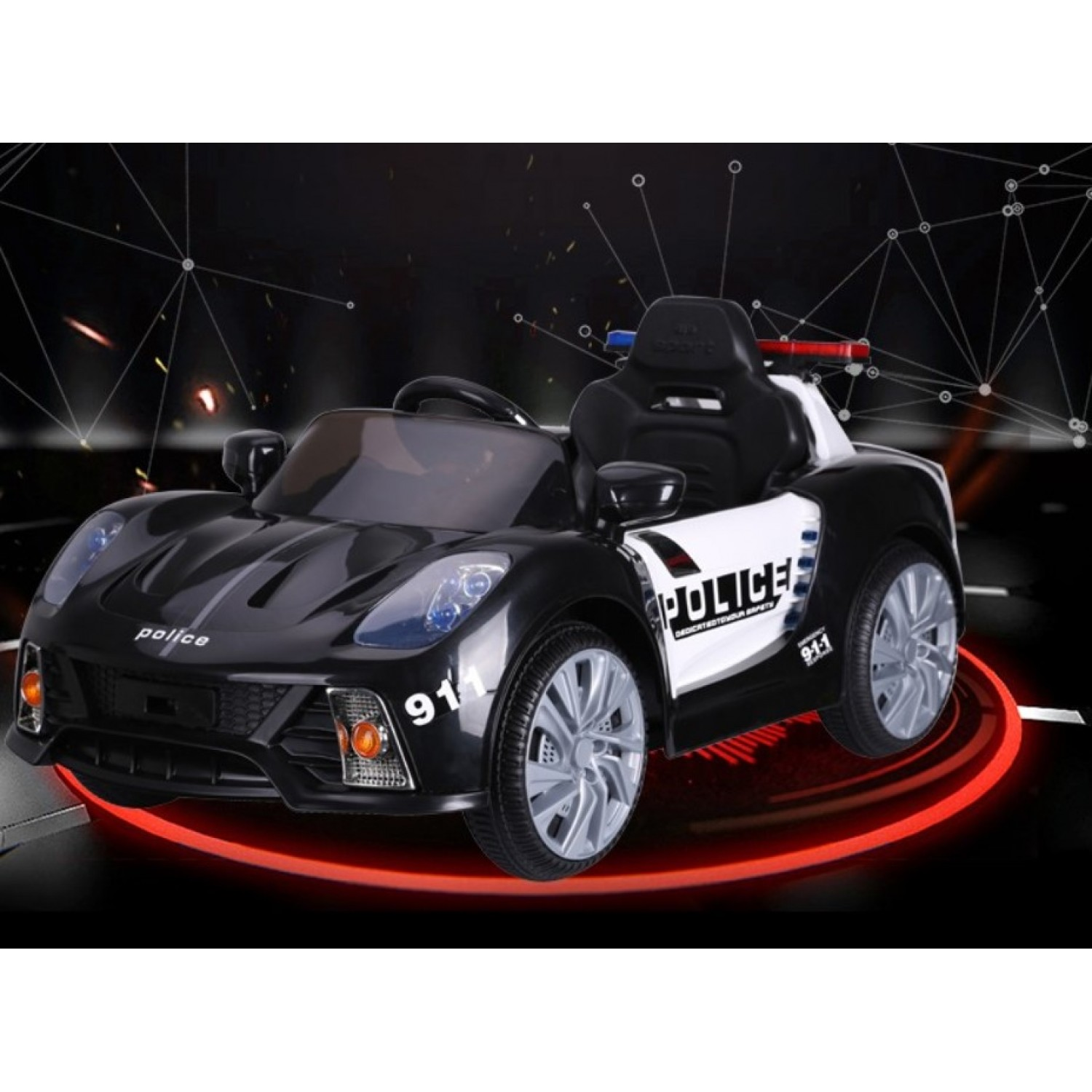 Electric Ride on Cars for Kids 12V Red Police