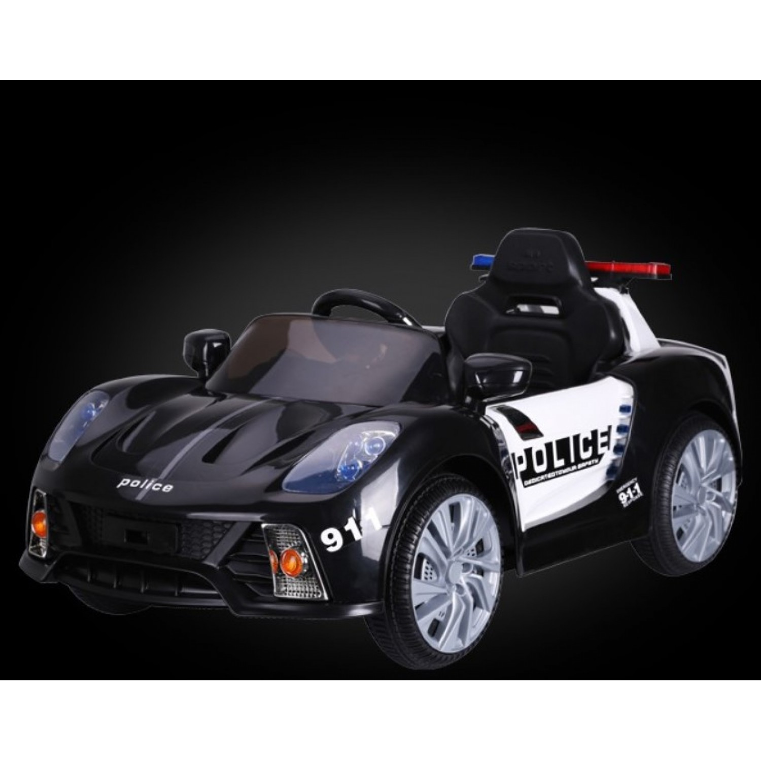 Cars For Kids >> Electric Ride On Cars For Kids 12v Red Police