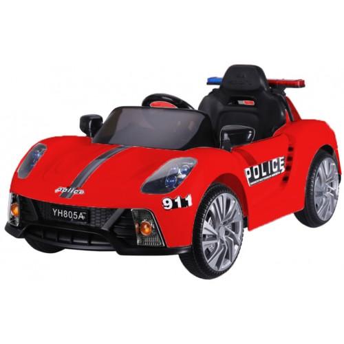 Ηλεκτροκίνητο Παιδικό Αυτοκίνητο Αστυνομίας-Περιπολικό Κόκκινο με μεγάφωνο ΥΗ805Α Ηλεκτροκίνητα αυτοκίνητα