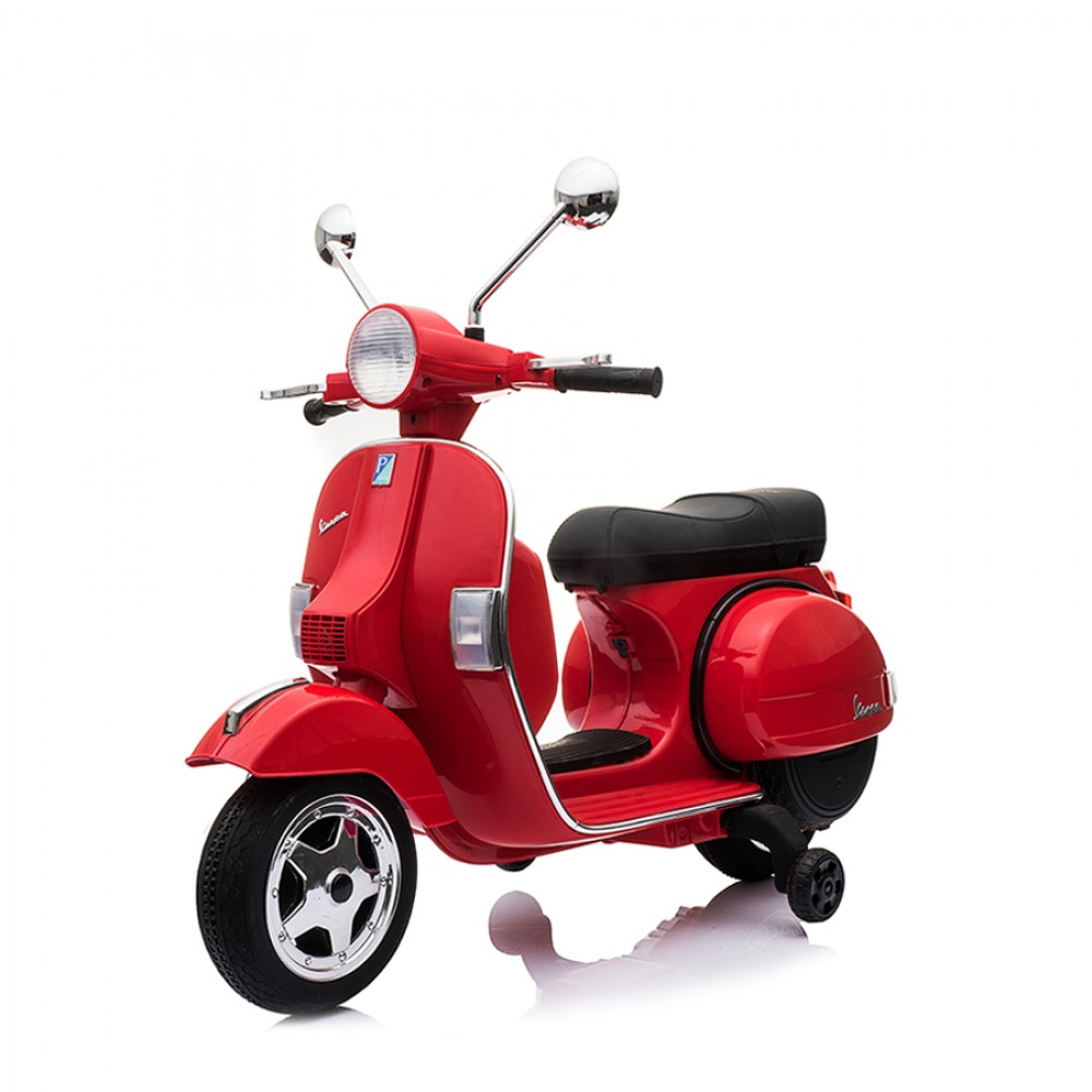 Ηλεκτροκίνητη Παιδική Vespa Licensed Piaggio Vintage 12V Κόκκινη PX150