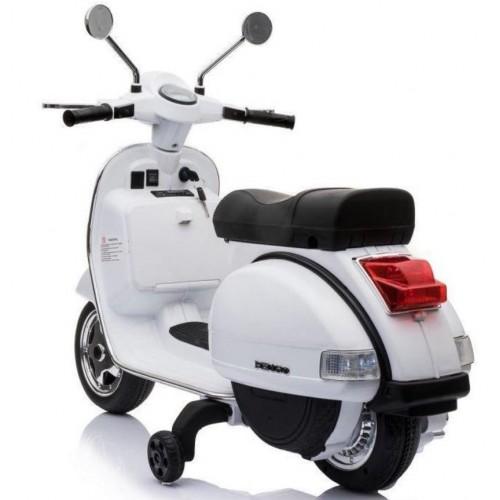 Ηλεκτροκίνητη Παιδική Vespa Licensed Piaggio Vintage 12V Λευκή PX150 ΠΑΙΧΝΙΔΙΑ