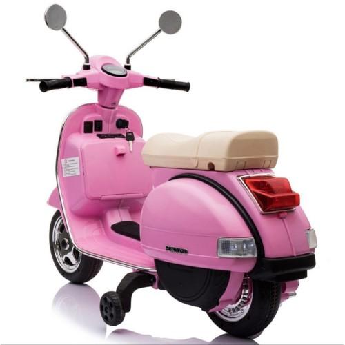 Ηλεκτροκίνητη Παιδική Vespa Licensed Piaggio Vintage 12V Ροζ PX150 ΠΑΙΧΝΙΔΙΑ