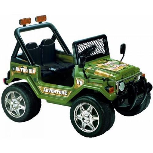 Ηλεκτροκίνητο Παιδικό Αυτοκίνητο Διθέσιο- Jeep τύπου Wrangler 12V Πράσινο BJ618 Ηλεκτροκίνητα αυτοκίνητα