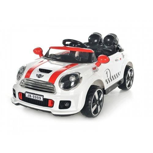 OEM Ηλεκτροκίνητο Αυτοκίνητο τύπου Mini Cooper Style 12V με R-C Λευκό 9999A Ηλεκτροκίνητα αυτοκίνητα