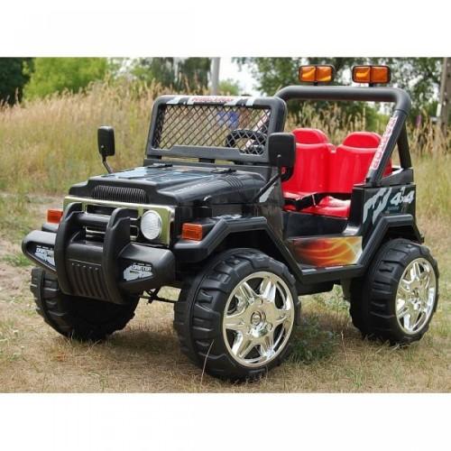 Ηλεκτροκίνητο Παιδικό Αυτοκίνητο Διθέσιο- Jeep τύπου Wrangler 12V Μαύρο BJ618 Ηλεκτροκίνητα αυτοκίνητα