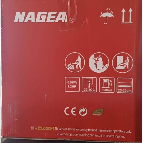 NAGEA Κλαδευτικό Αλυσοπρίονο Βενζίνης με Μετατόπιση 25,4CC  YD-KU01-25 Εργαλεία