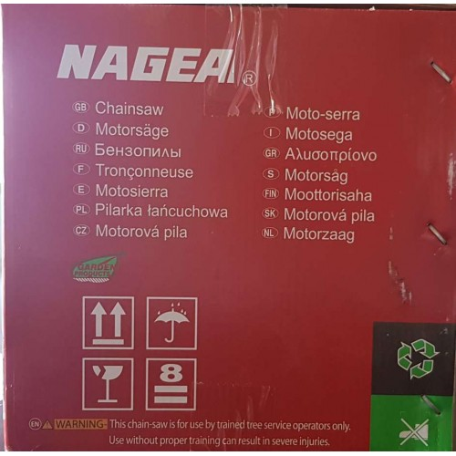 NAGEA Κλαδευτικό Αλυσοπρίονο Βενζίνης με Μετατόπιση 25,4CC  YD-KU01-25