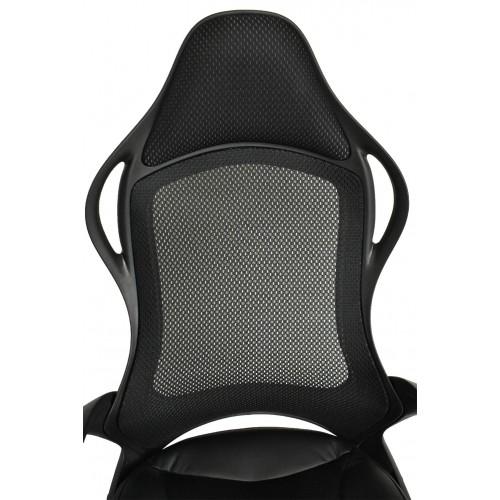 Καρέκλα Γραφείου Διευθυντική Μαύρη με ύφασμα Mesh Μαύρο άκαυστο KA-5281 Καρέκλες Γραφείου