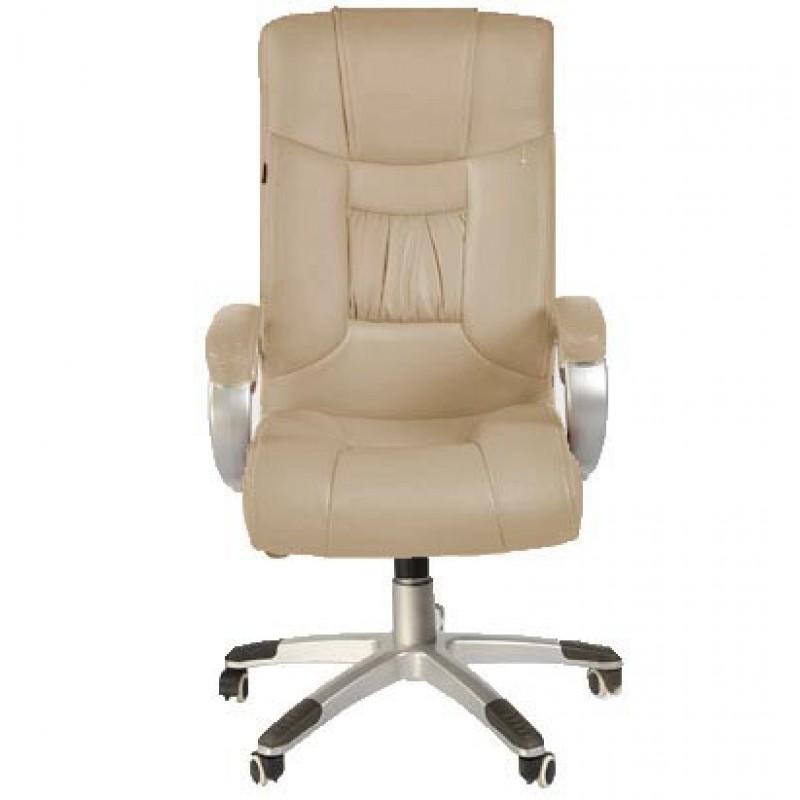 Καρέκλα γραφείου με PU Μπεζ με μεταλλική βάση και ρυθμιζόμενο ύψος 36147 Καρέκλες Γραφείου