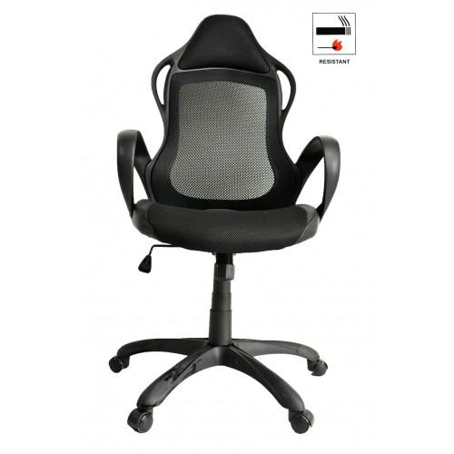 Καρέκλα Γραφείου Διευθυντική Μαύρη με ύφασμα Mesh Μαύρο άκαυστο KA-5281 OEM ΚΑΡΕΚΛΕΣ ΓΡΑΦΕΙΟΥ
