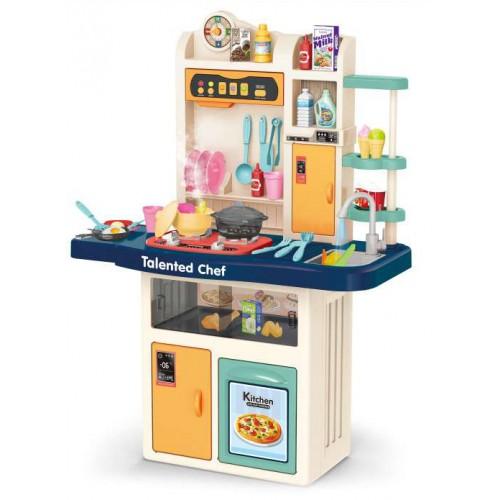 Παιδική Κουζίνα Μπλε με ήχους - φως και βρύση με νερό  Παιχνίδι Μίμησης  με αξεσουάρ, ράφια και ντουλάπια αποθήκευσης με διαστάσεις 97 x 70.5 x 31.5 εκ DK105 ΠΑΙΧΝΙΔΙΑ