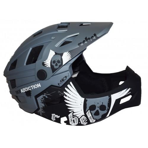 Full Face Κράνος ποδηλάτου BMX Freeride - Downhill ΜΟΟΝ KS11 matt Grey Ποδήλατα