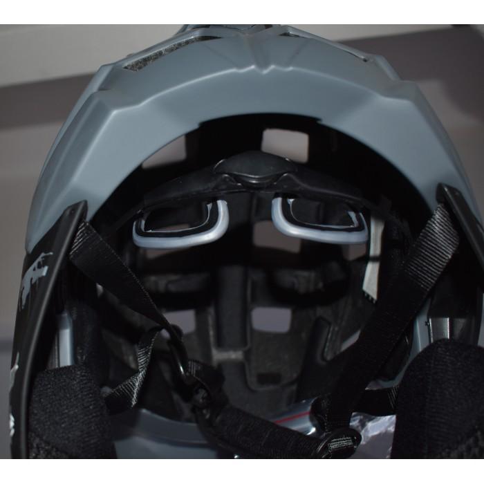 Εκθεσιακό Full Face Κράνος ποδηλάτου με αποσπώμενο σαγώνι  BMX Freeride - Downhill ΜΟΟΝ KS21 matt Grey