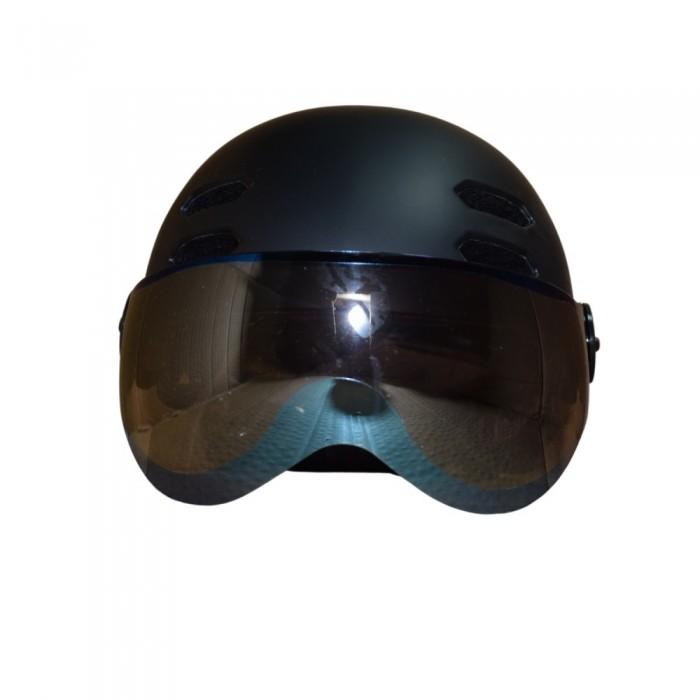 Κράνος με προστατευτικά γυαλιά και αποσπώμενο γείσο για ηλεκτροκίνητο Ποδήλατο Πατίνι Scooter Ski Snowboard Sledge FT03 matt Black