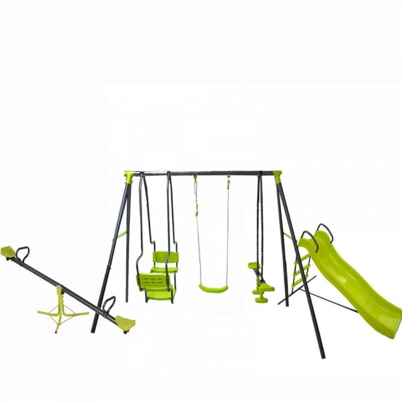 Σετ Κούνια Multiplay και τσουλήθρα και τραμπάλα παιδική χαρά 5298-90-80 ΠΑΙΧΝΙΔΙΑ ΕΞΩΤΕΡΙΚΟΥ ΧΩΡΟΥ