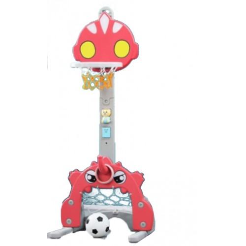 Πλαστική Μπασκέτα 3 σε 1 Πολυλειτουργικό Ultraman με τέρμα ποδοσφαίρου και κρίκους Κόκκινο Forall L-ATM02 ΠΑΙΧΝΙΔΙΑ