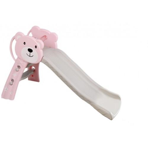 Παιδική Τσουλήθρα Πλαστική Αρκουδάκι ροζ 9LHT04 ΠΑΙΧΝΙΔΙΑ