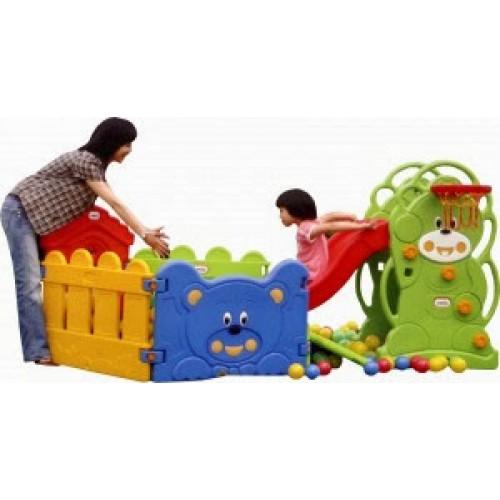 Πλαστικός Παιδότοπος Παιχνιδιού Φράχτης Σπιτάκι με πόρτα πολύχρωμος Forall 6532 ΠΑΙΧΝΙΔΙΑ