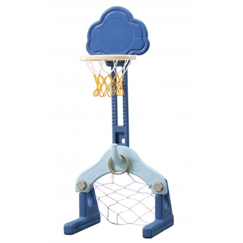 4 σε 1 Πολυλειτουργικό Σύννεφο Πλαστική Μπασκέτα  ποδόσφαιρο γκόλφ και κρίκους Μπλε Forall 6531 ΠΑΙΧΝΙΔΙΑ