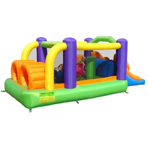 Happy Hop Φουσκωτό Τραμπολίνο  με Διπλή Τσουλήθρα Obstacle Course Bouncer 9063 ΠΑΙΧΝΙΔΙΑ