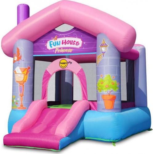 Happy Hop φουσκωτό τραμπολίνο  με τσουλήθρα Fun House Princess 9215P ΠΑΙΧΝΙΔΙΑ