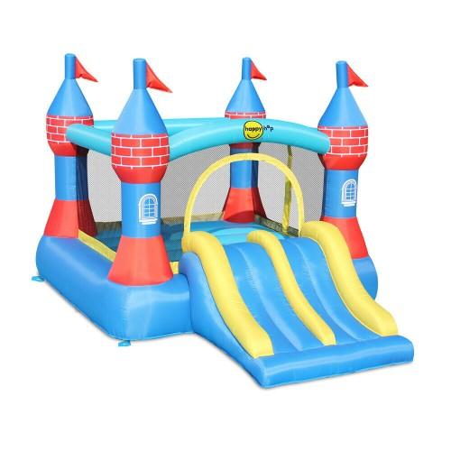 Happy Hop Φουσκωτό Κάστρο Τραμπολίνο  με Διπλή Τσουλήθρα Castle Bouncer with Dobble Slide 9512 ΠΑΙΧΝΙΔΙΑ