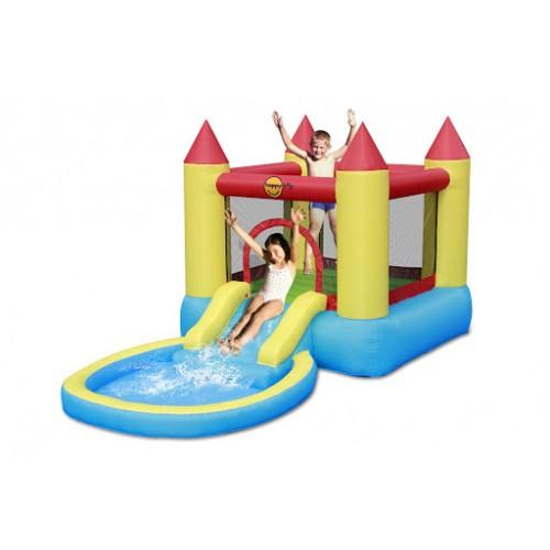 Happy Hop Φουσκωτό Κάστρο με Πισίνα Τραμπολίνο τσουλήθρα μπαλοπισίνα  9820 ΠΑΙΧΝΙΔΙΑ