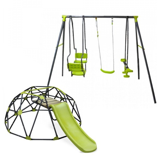 Σετ Κούνια Multiplay και θόλο αναρρίχησης δαπέδου με τσουλήθρα παιδική χαρά 5298-5026