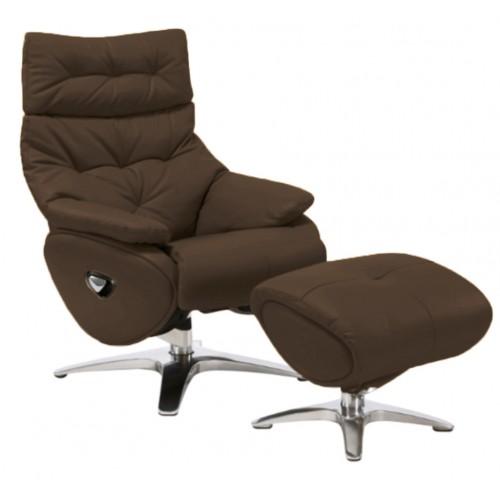 Πολυθρόνα Relax με Περιστρεφόμενη βάση και υποπόδιο Black Coffe L016 ALPHA136G  ΚΉΠΟΣ