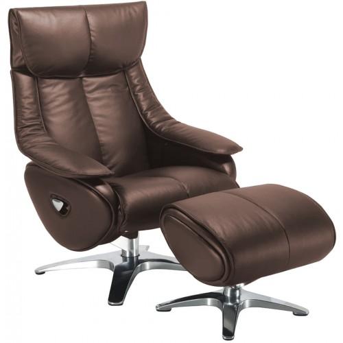 Πολυθρόνα Relax με Περιστρεφόμενη βάση και υποπόδιο Black Coffe L016 ALPHA108G  ΚΉΠΟΣ