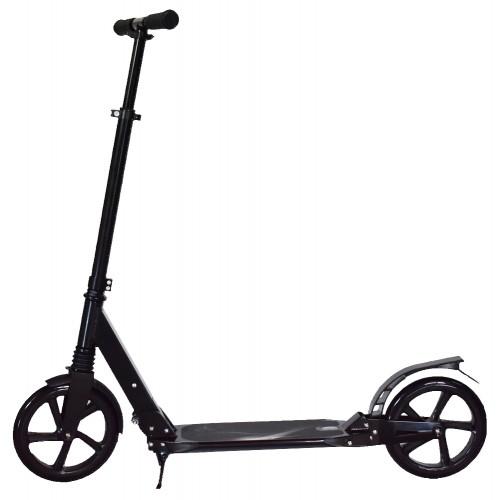 Πατίνι Ενηλίκων Αστικό Πτυσσόμενο Σκούτερ με Διπλή Ανάρτηση και με ιμάντα μεταφοράς Μαύρο TD230 Forall Ποδήλατα