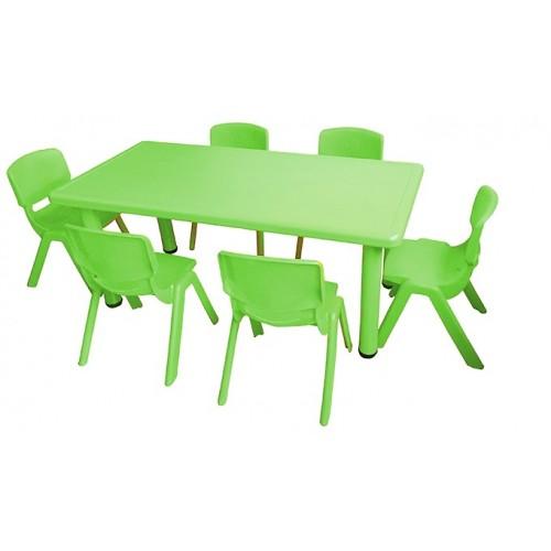 Σετ Παιδικό Τραπέζι πλαστικό με καρέκλες 7 τεμαχίων σε Πράσινο χρώμα 02524004 ΠΑΙΧΝΙΔΙΑ