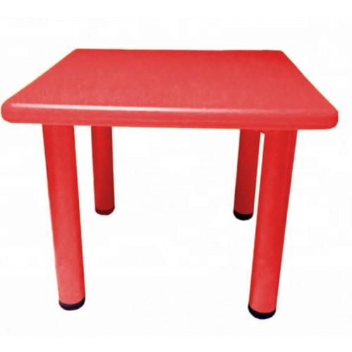 Παιδικό Τραπέζι πλαστικό τετράγωνο σε Κόκκινο χρώμα 0251 ΠΑΙΧΝΙΔΙΑ