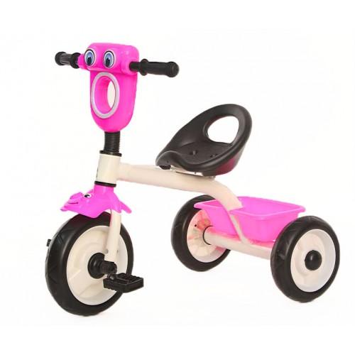 Παιδικό Τρίκυκλο Ποδήλατο Βατραχάκι FORALL σε Ροζ χρώμα SDX2B Ποδήλατα
