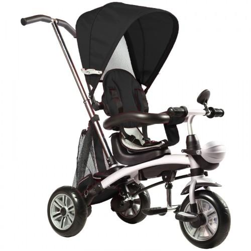 Παιδικό Τρίκυκλο Ποδήλατο 4 σε 1 με σκίαστρο και περιστρεφόμενο κάθισμα σε Μαύρο χρώμα x3-13 Ποδήλατα