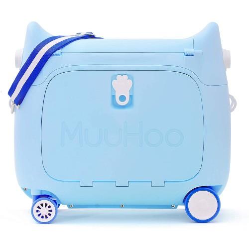 Παιδική Βαλίτσα Ταξιδιου Καμπίνας  τρόλευ Sky Blue Muuhoo Kids Luggage  ΠΑΙΧΝΙΔΙΑ